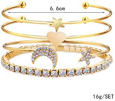 BlingDi Fashion American Grown With Irish Roots Design Heart Lucky Bracelet Jewelry