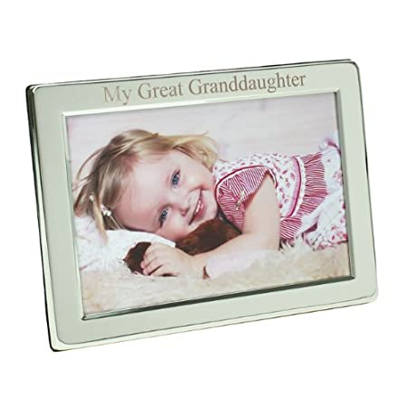 Silver Plated My Great Granddaughter Photo Frame, 8\
