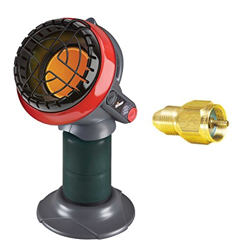 Mr. Heater F215100 Portable Little Buddy Propane Heater with Tank Refill Adapter by Mr. Heater