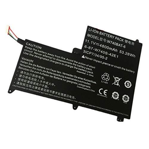 7XINbox 11.1V 53.28Wh 4800mAh W740BAT-6 Replacement Laptop Battery for Clevo Schenker W740S S413 W740SU 3ICP7/34/95-2 6-87-W740S-42E (Best Replacement Laptop Battery Company)