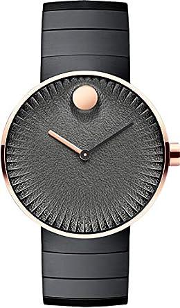 Movado Edge Analogue Black Dial Men's Watch