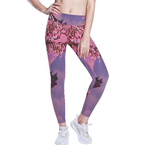 Cherry Blossom Yoga Pants High Waist Fitness Plus Size Workout Running Yoga Leggings for Women