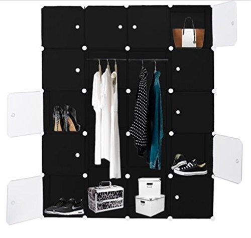 Meloo Kleiderschrank DIY Schrank Regalsystem Steckregal Garderobe Schuhregal - 181x 143 x 35 cm-5 Farben