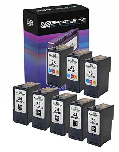 Speedy Inks Remanufactured Ink Cartridge Replacement for Lexmark 34 & 18C0035 35 (5 Black, 3 Color, 8-Pack)