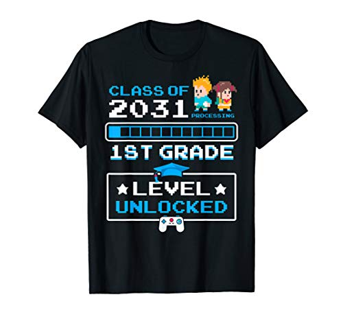 1st Grade First Day Of School Video Games Gift Class Of 2031 T-Shirt
