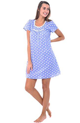 Galleon - Alexander Del Rossa Womens 100% Cotton Lawn Nightgown ... f973f7c7c
