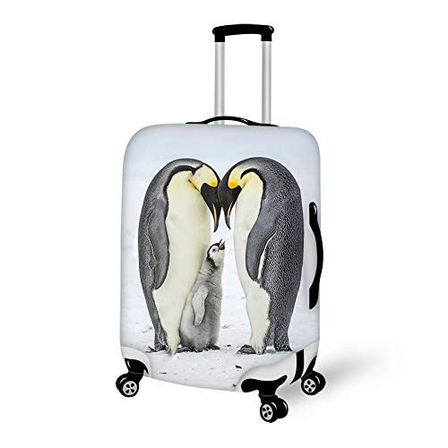 DreamyyyLife Cute Penguins Family Love Printed Lugagge Cover Suitcase Covers Travel Suitcase Protector M