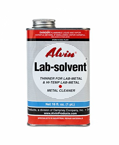 Alvin 14 oz Lab Metal Hi Temp Repair & Patching Compound 16 oz Lab Solvent Thinner by Alvin (Image #2)