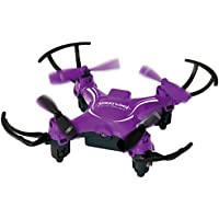 PCT Brands Zero Gravity Mini Pocket Drone 4 Channel 6 Axis Gyro RC Micro Quadcopter, Purple, Small