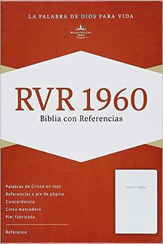 RVR 1960 Biblia con Referencias, blanco piel fabricada (Spanish ...