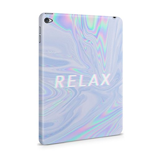 Trippy Acid Rainbows Iridescent Print Relax Chillout Plastic Tablet Snap On Back Case Cover Shell For iPad Mini 4