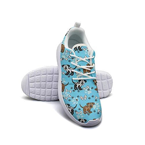 Hobart dfgrwe Dogs and Bones Borders Over Blue Womens Flat Bottom Print Fitness Shoe