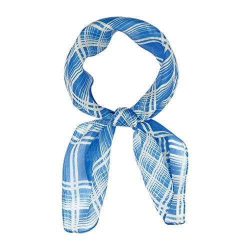 Chan Luu Silk Bright Plaid Neckerchief in Palace Blue ()