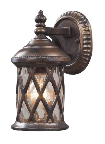 Elk Lighting Barrington Gate Outdoor Wall Lantern in Hazelnut - Stores West Gate