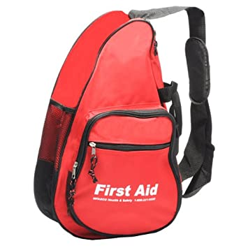 Amazon.com: Deluxe First Aid Sling Bag Red Each: Health & Personal ...