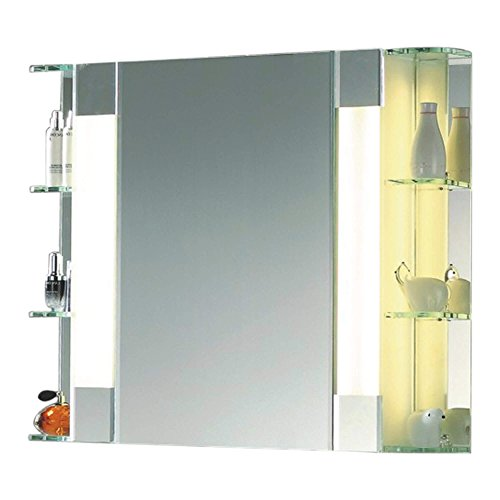 Fab Glass and Mirror FGM-L-LG02 Wall Mounted Mirror, LED cabinets