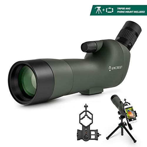 Great Features Of Amcrest Spotting Scope for Target Shooting w/Tripod 20-60x60mm, Multi Coated Optic...