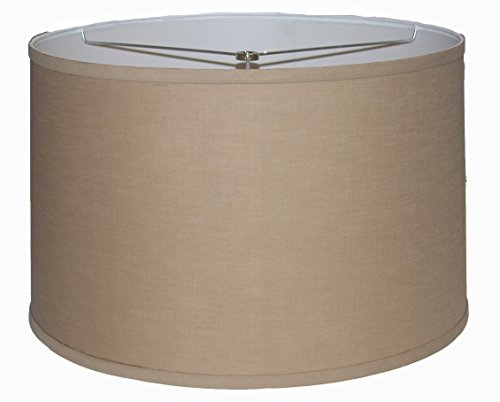 A Ray Of Light 182012KH Linen Hardback Drum Lamp Shade with Self Trim, X-Large, ()