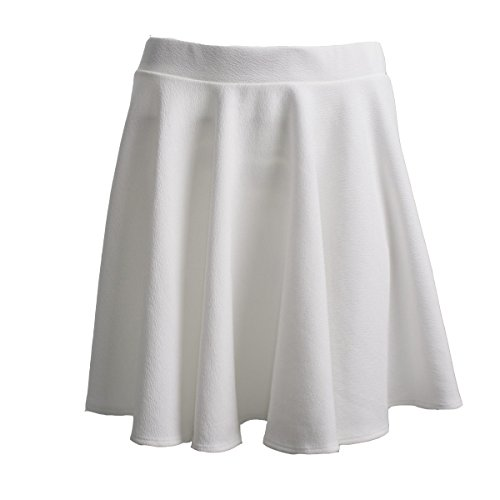 Amazing Closet A-Line Short Pleated Skirt Puff Basic Versatile Casual (X-Large, -