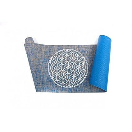 Vivre-Mieux Organic Yoga Mat con Flor de la Vida (Hecha de ...