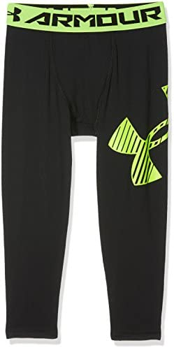 XL Leggings Armour 3//4 Logo Legging Under Armour Black//Fuel Green 001 Nero Bambino