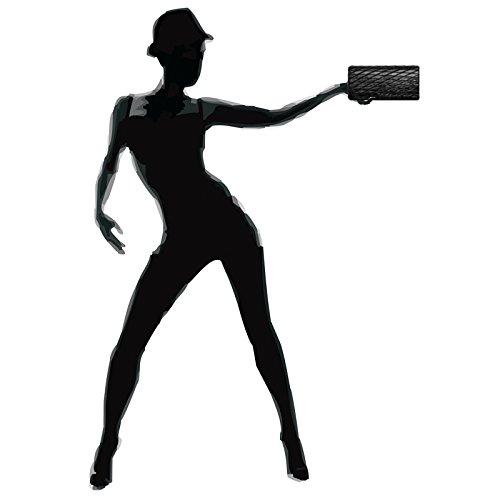 con de Mujer Brillante para Dibujo Bolso CASPAR Negro de TA396 Fiesta Mano Clutch Rombos CcwxFzZzqS