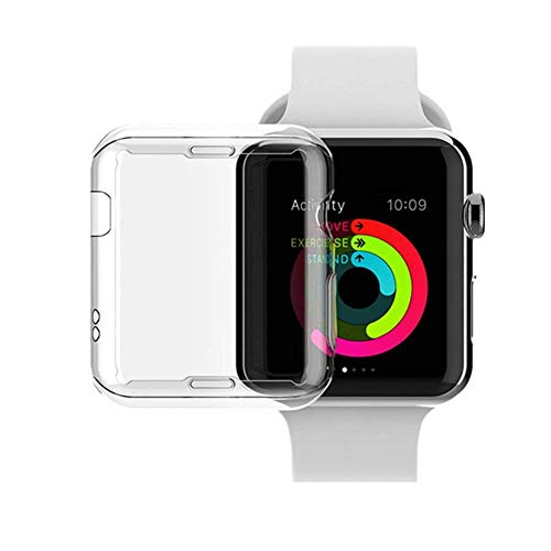 Alotm for Apple Watch Case, 2Pack iWatch Case Soft TPU Sides Protector All-Around Protective Ultra-Thin Case Cover for Apple Watch Series 1 (42mm)