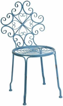 Imax Corrina Blue Iron Side Chair