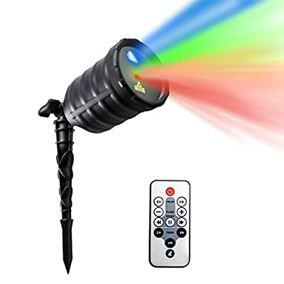 IMAXPLUS Indoor&Outdoor Laser Christmas Light, Star Laser Show Christmas Projector with IR Wireless Remote