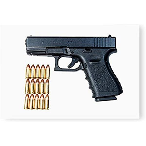 Amazon Com Glock Model 19 Handgun With 9mm Ammunition Poster Print By Terry Moorestocktrek Images 17 X 11 Home Kitchen