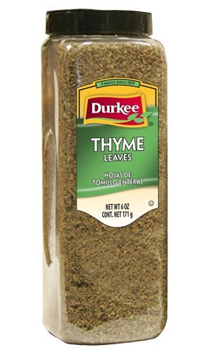 Durkee Thyme Leaves, Whole, 6-Ounce Packages (Pack of 2) by Durkee