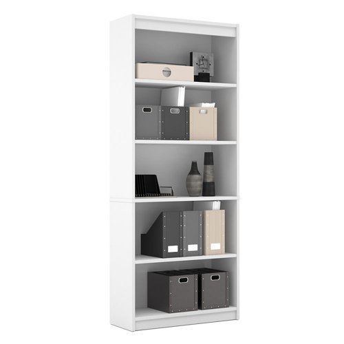 Bestar Office Space Corner - Universal Five Shelf Bookcase Chocolate