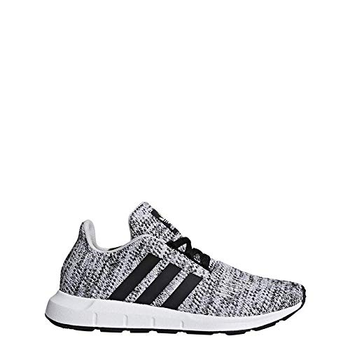 (adidas Originals Kids Boy's Swift Run J (Big Kid) Grey/Black 5 M US Big)