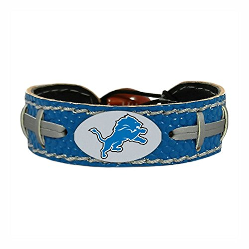 Detroit Lions Team Color NFL Gamewear Leather Football Bracelet Leather Nfl Bracelets