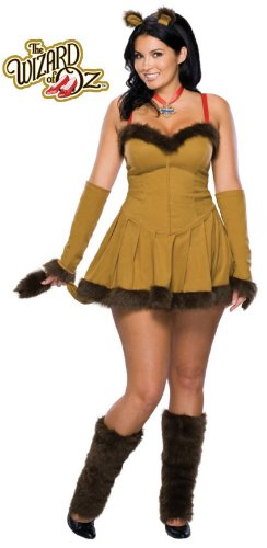 [Wizard Of Oz Secret Wishes Cowardly Lioness Costume, Brown, Plus] (Woman Lioness Costume)