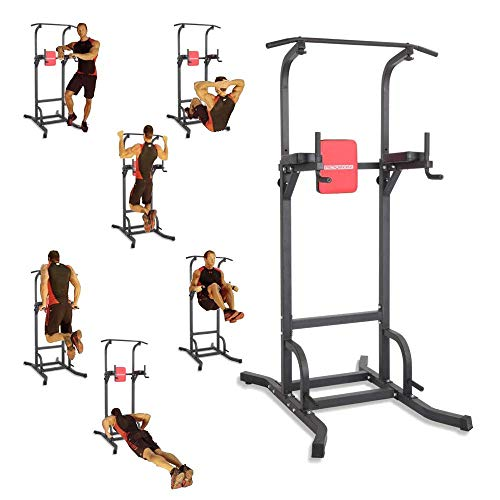 PEXMOR Power Tower Multi-Function Dip Station, Home Strength Training Fitness Workout Equipment Tower Dip Stands