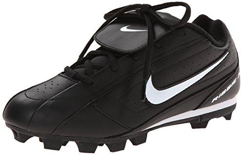 Nike Ribbie Jr (BG) 309303-011 Black White Lace-Up Baseball Cleats (Kids 6=EUR 38.5, Black) by NIKE