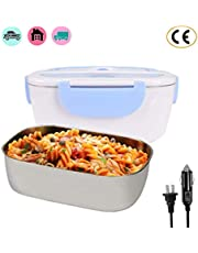 Nifogo Lunch warmer Electric Heating Lunch Box, Car and Home Use Portable Lunch Heater with Removable Stainless Steel Container Food Grade Material 110V and 12V