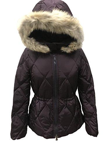 Coach 84047 Women's Short Legacy Puffer Jacket Coat (Small, Black Violet) (Jacket Legacy)