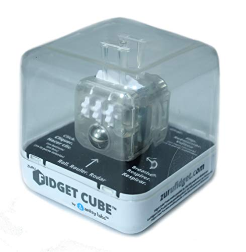 Zuru Fidget Cube by Antsy Labs - Custom Series (Transparent) Clear Fidget Cube with White Accents by Zuru Fidget Cube by Antsy Labs (Image #2)