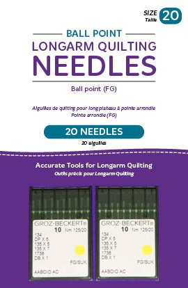 Handi Quilter Longarm Quilting Needles - Ball Point (FG) Size 20 (Pack of 20)