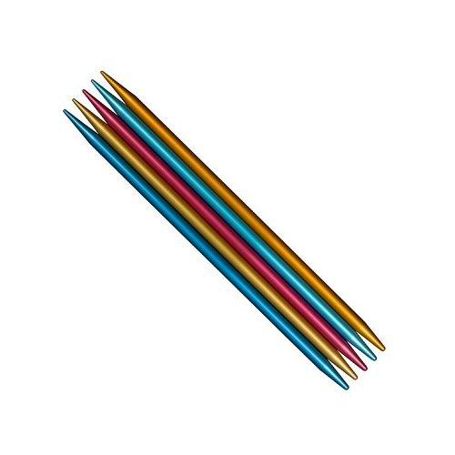 addi FlipStix Double Pointed Knitting Needles 6-inch (15cm) - Set of 5; US Size 7 (4.5mm) - Point Knitting Aluminum Needles Double