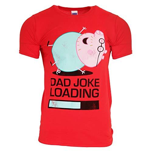 (Peppa Pig Official Adults Unisex Daddy Pig Joke Loading T-Shirt (L))