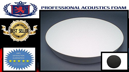 CHARCOAL Professional 36'' Round Ottoman Foam 18'' High. by PROFESSIONAL ACOUSTICS FOAM