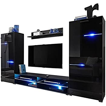 Amazoncom Modern Entertainment Center Wall Unit with LED Lights 70