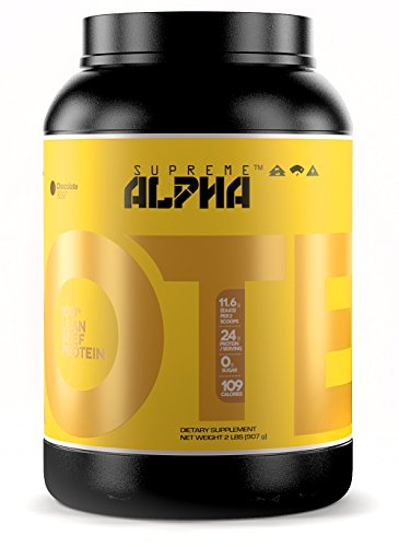 Supreme Alpha Hydrolyzed Beef Isolate Protein Powder For Men and Women With Rich Chocolate Flavor - 2 Pounds