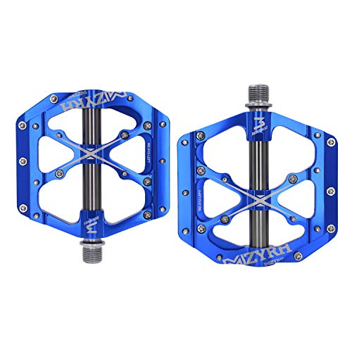 Mzyrh Mountain Bike Pedals Non-Slip Alloy Flat Pedals 9/16