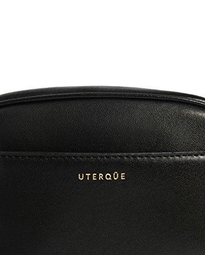 Uterque (Zara) Donna Borsa tracolla in pelle nera 5024/254