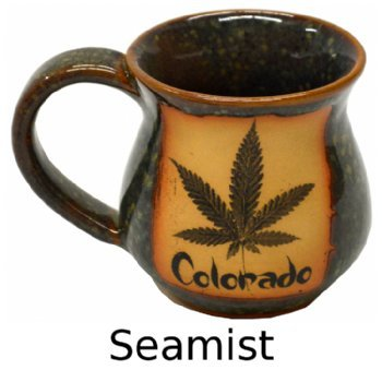 Reefer Madness Mug with written Colorado in Seamist Glaze