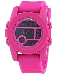 Nixon Mens A490076 Unit 40 Digital Quartz Pink Rubber Watch